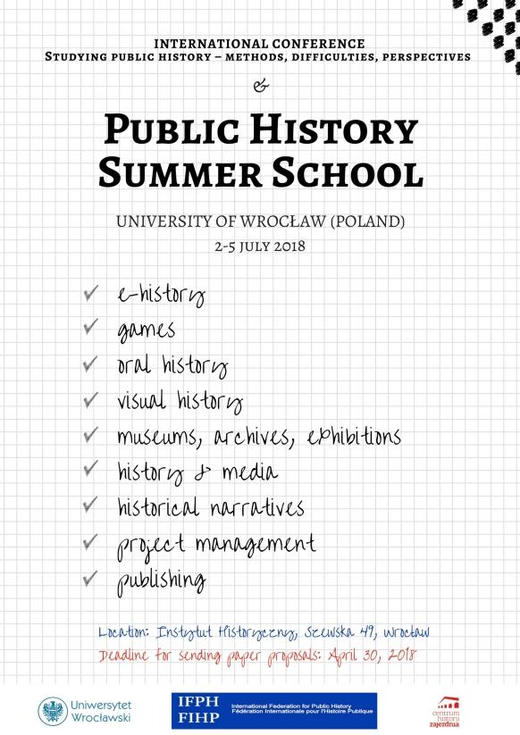 Public History Summer School - poster