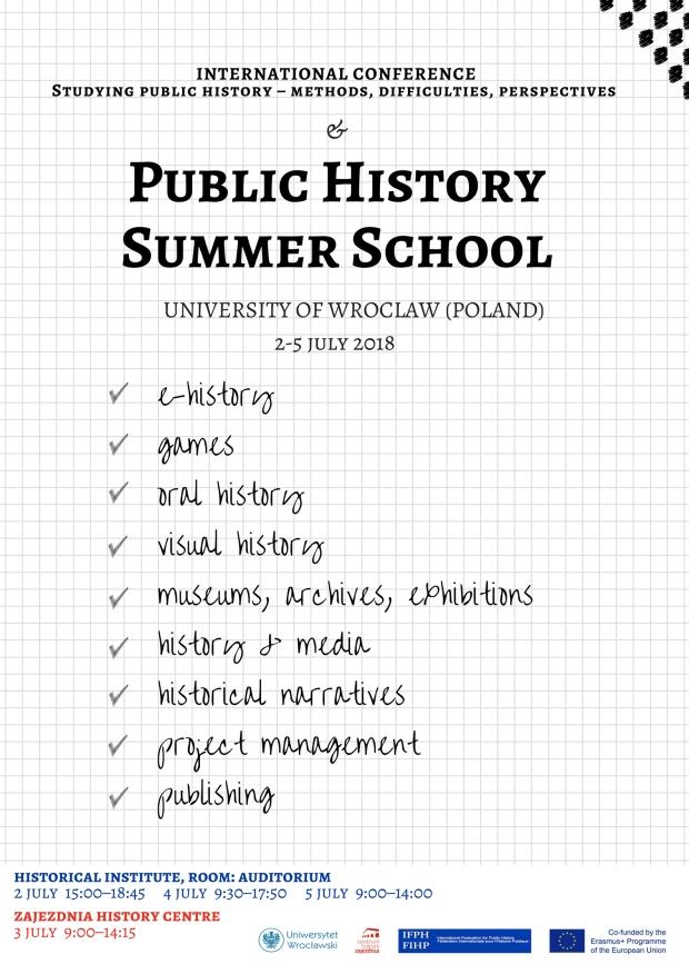 Public History Summer School - kartka2